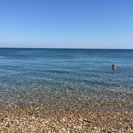 Η παραλία Λιλικάς στην Νότια Χίο