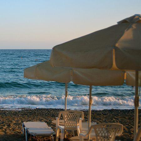 Η παραλία Λήμνος στην Βορειοδυτική Χίο