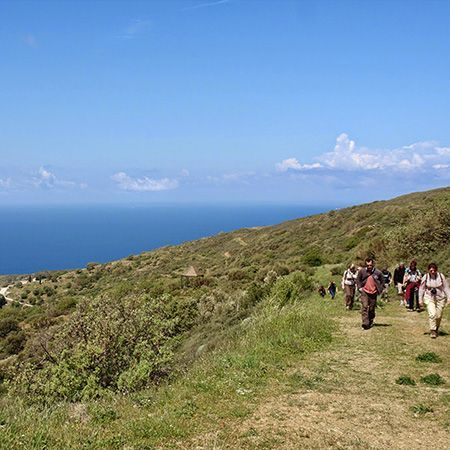 Agios Giannis - Agio Galas - Hiking on mountain footpath